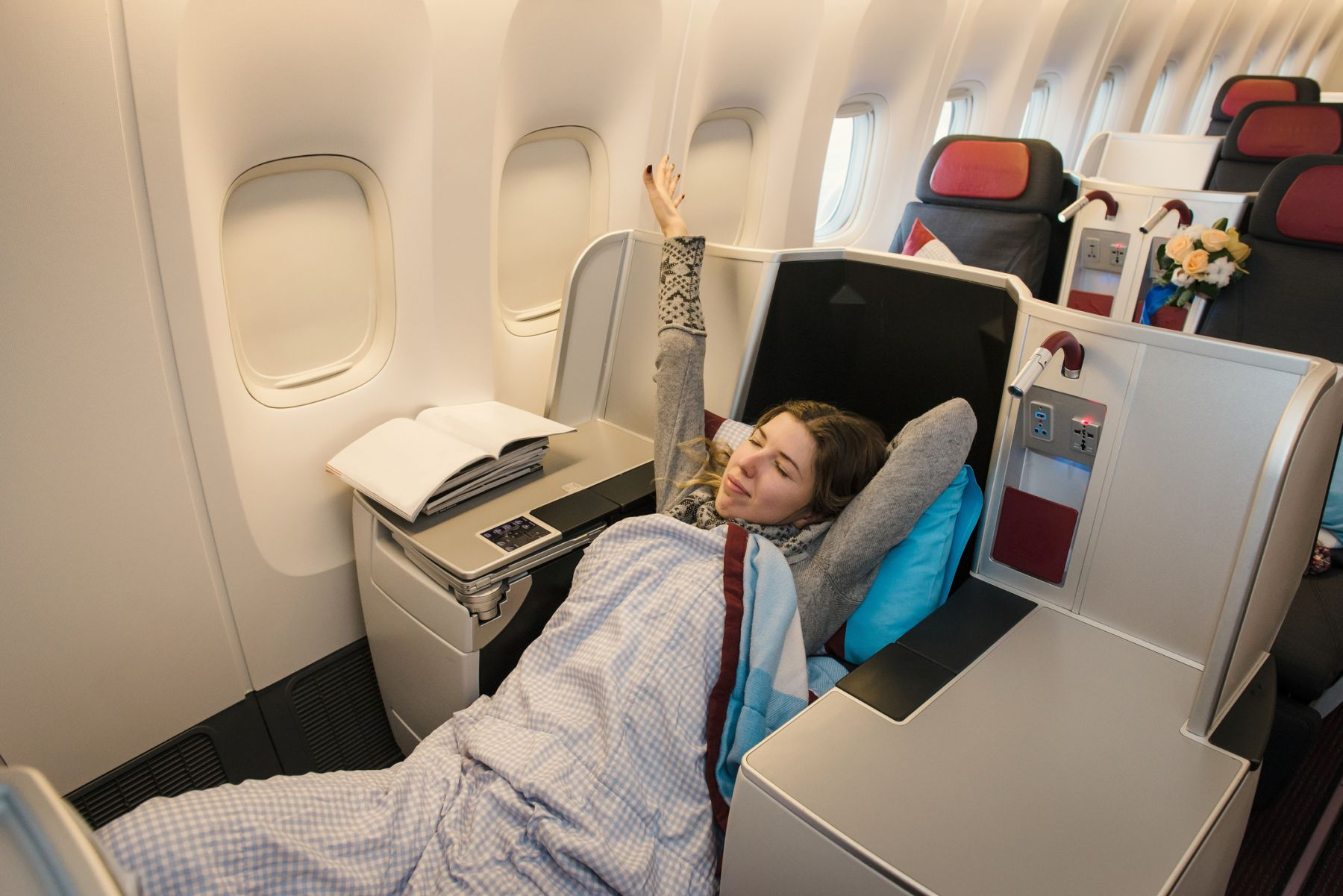 Gratis upgrade business class